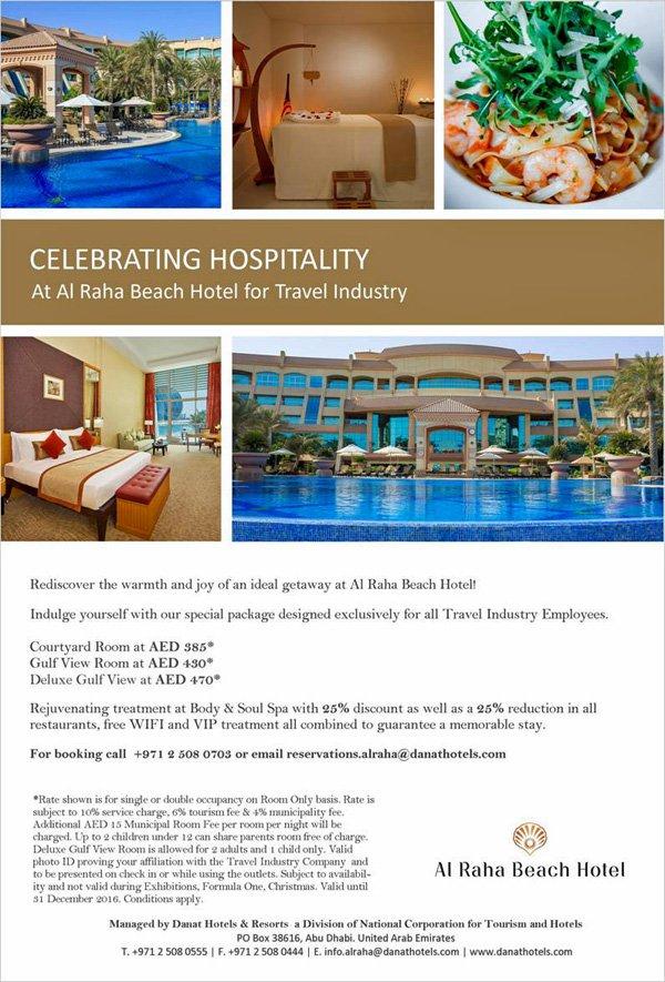Abu Dhabi Al Raha Beach Hotel Airline Staff Rates
