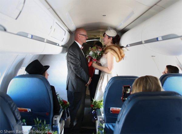 Love Soars On Delta Flight With Customer Wedding Airline