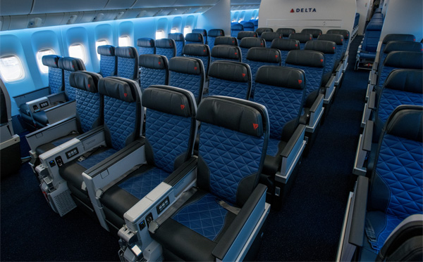 Delta to debut first aircraft with all four seat experiences