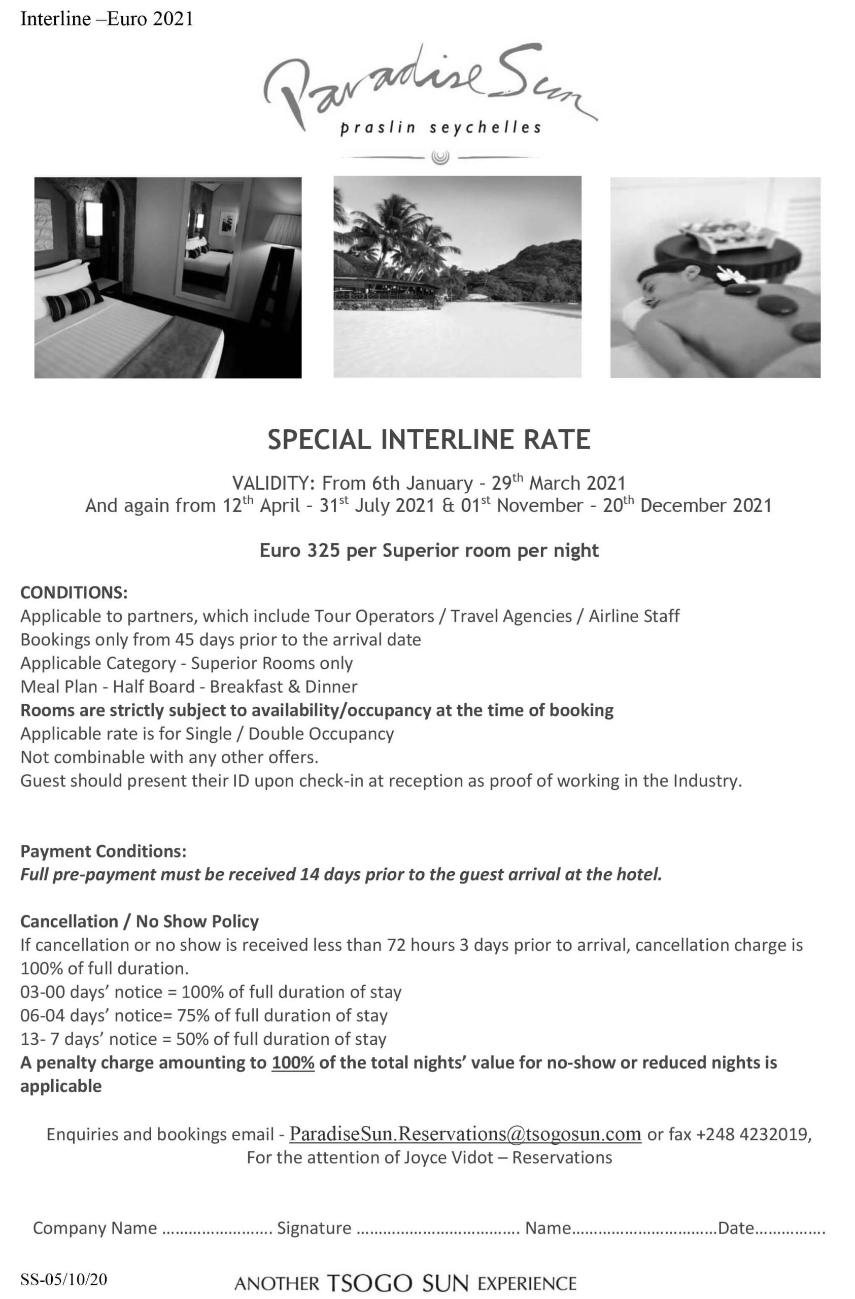 Interline Rate